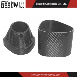 3k Carbon Fiber Motorcycle Muffler End Cap